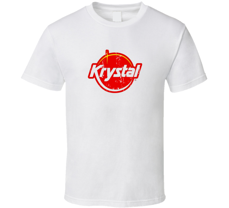 Krystal Fast Food Restaurant Distressed Look T Shirt