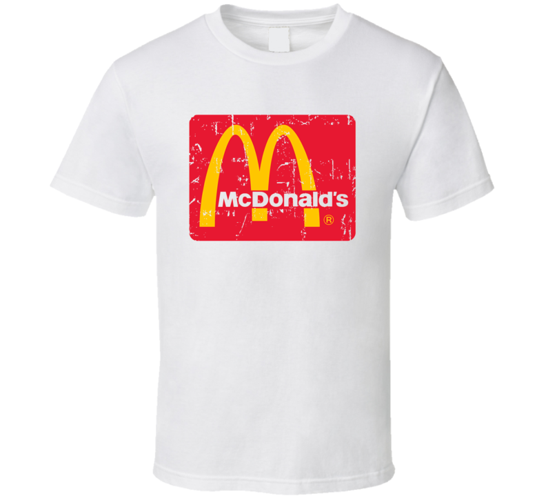 McDonalds Fast Food Restaurant Distressed Look T Shirt