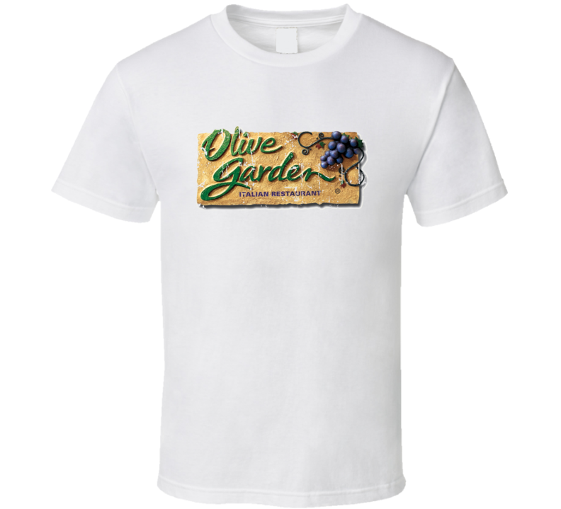 Olive Garden Fast Food Restaurant Distressed Look T Shirt