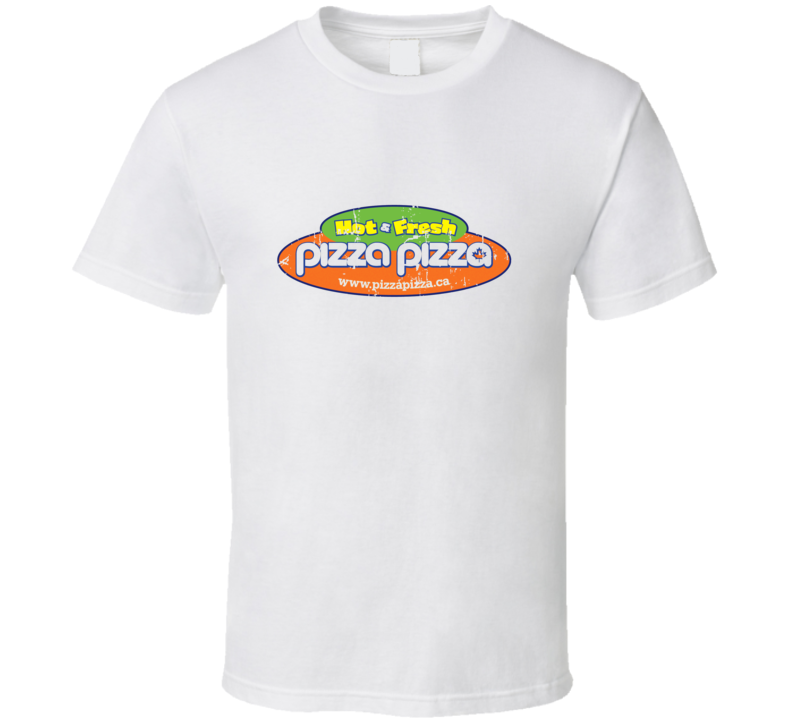 Pizza Pizza Fast Food Restaurant Distressed Look T Shirt