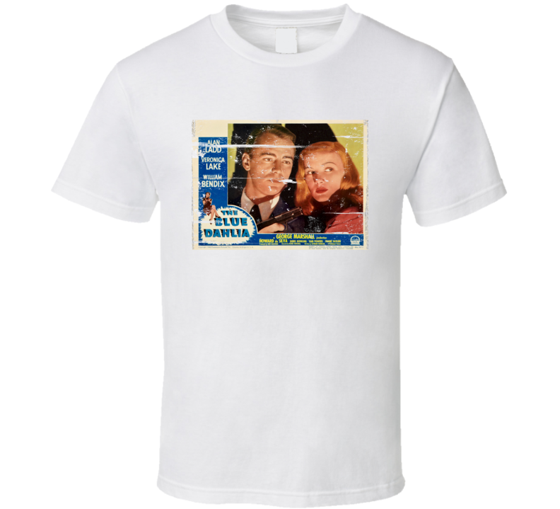 Blue Dahlia Movie Distressed T Shirt