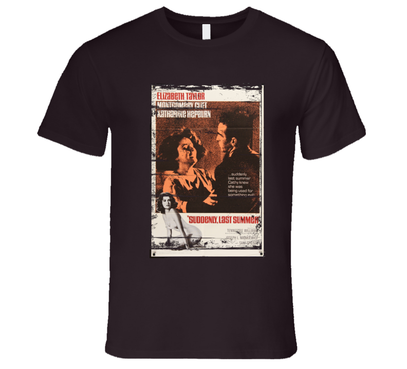 Suddenly Last Summer Movie distressed look T Shirt