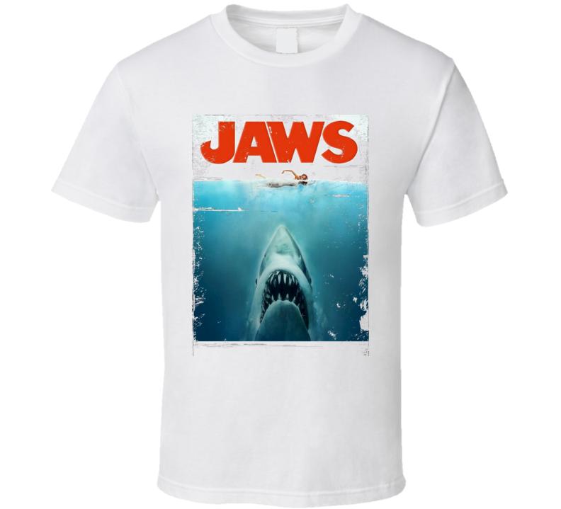 Jaws distressed Retro movie poster Gord Downie Image  T Shirt