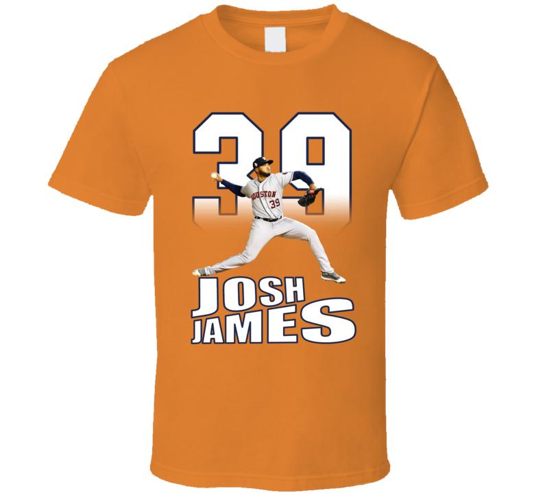 Josh James Houston Baseball Fan Pitcher T Shirt