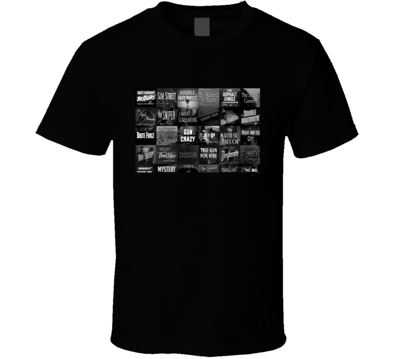 Noir Movie images T Shirt