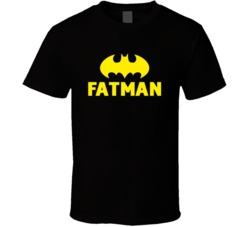 Fatman T Shirt Funny Batman Movie Parody T shirt Fatman Shirt