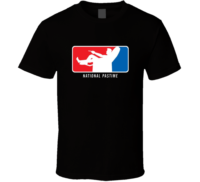 National Pastime Funny Logo Parody T Shirt