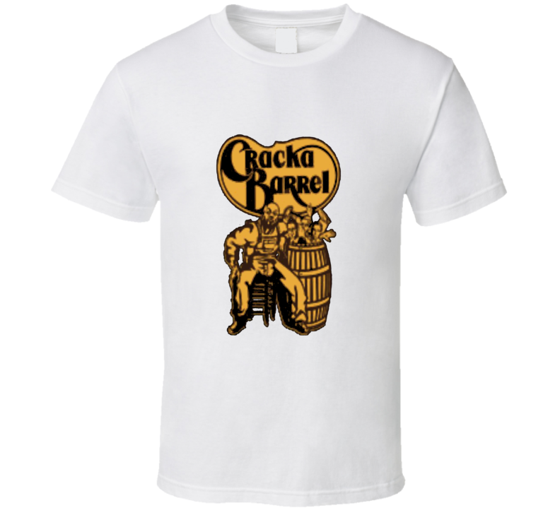 Cracka Barrel Funny Logo Parody T Shirt