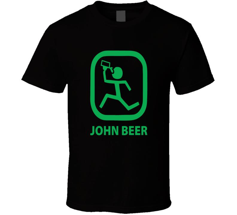 John Beer Funny Logo Parody Logo Spoof T shirt