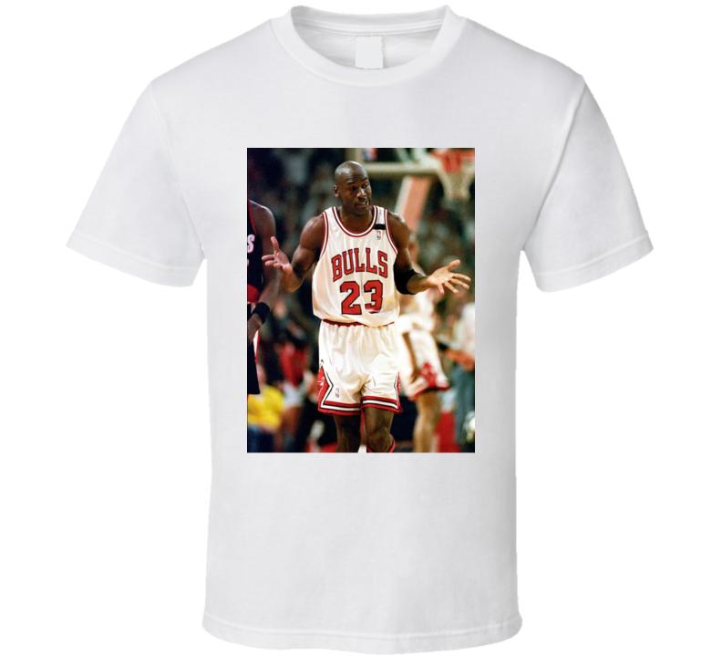 a7d18203aa17 Best Iconic Michael Jordan Bulls Goat Nba Finals Champion Shrug T Shirt