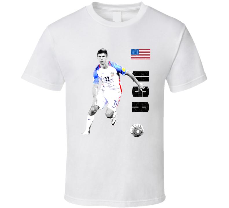 Christian Pulisic Team USA Support Patriotic Copa America Cup Soccer Futball T Shirt
