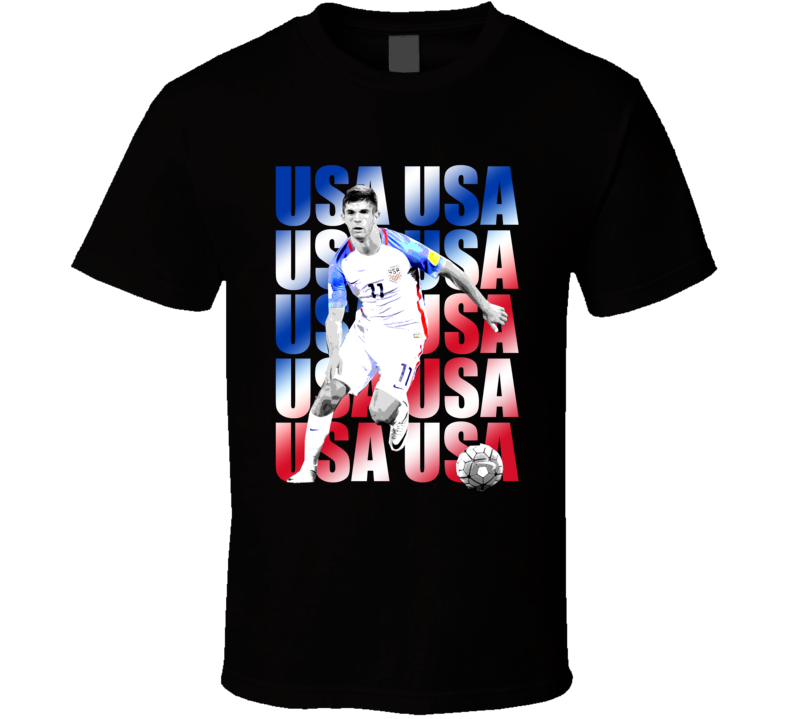 Christian Pulisic Team USA American Copa America Cup Soccer Futball T Shirt