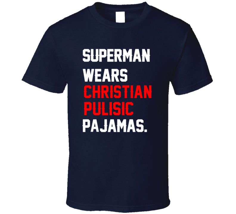 Superman Wears Christian Pulisic Pajamas USA Football Player Fan T Shirt
