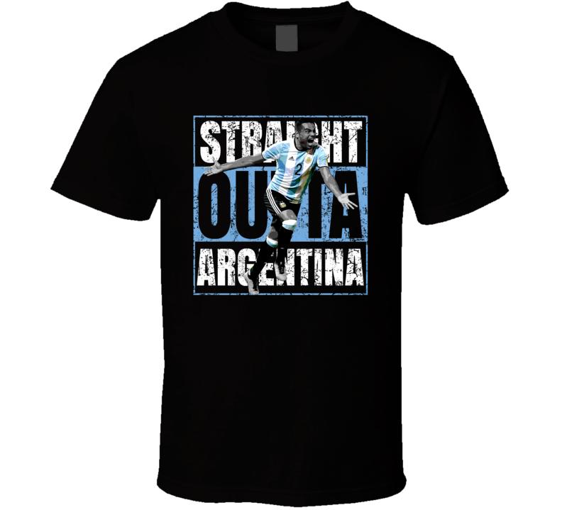Gabriel Mercado Straight Outta Team Argentina Copa America Cup Soccer Futball T Shirt