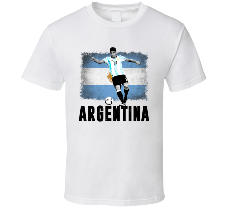 Ever Banega Team Argentina Flag Copa America Cup Soccer Futball T Shirt