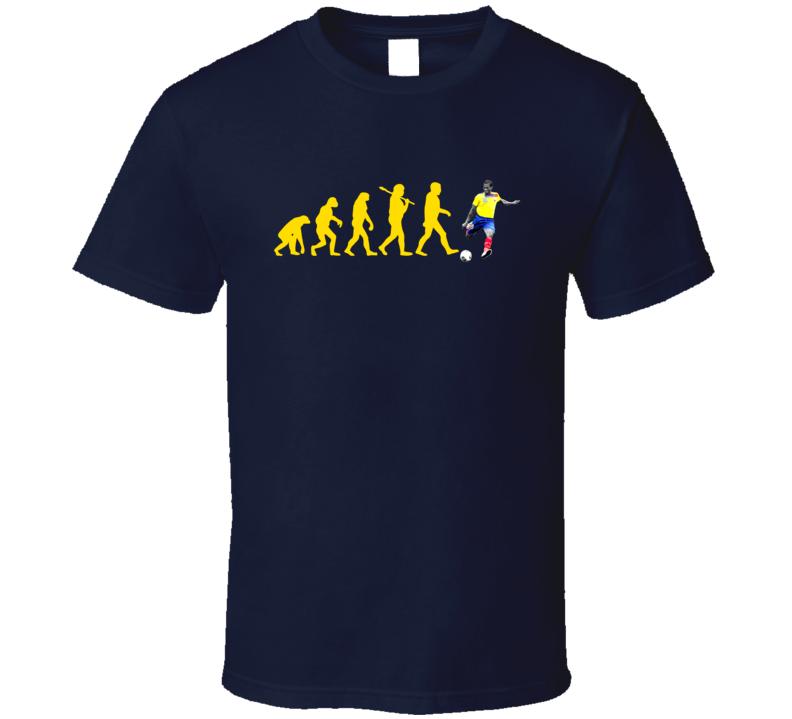 Antonio Valencia Team Ecuador Evolution Copa America Cup Soccer Futball T Shirt