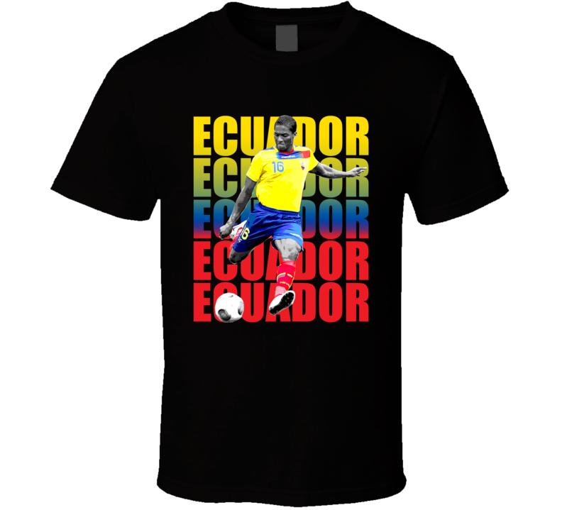 Antonio Valencia Team Ecuador Colors Copa America Cup Soccer Futball T Shirt