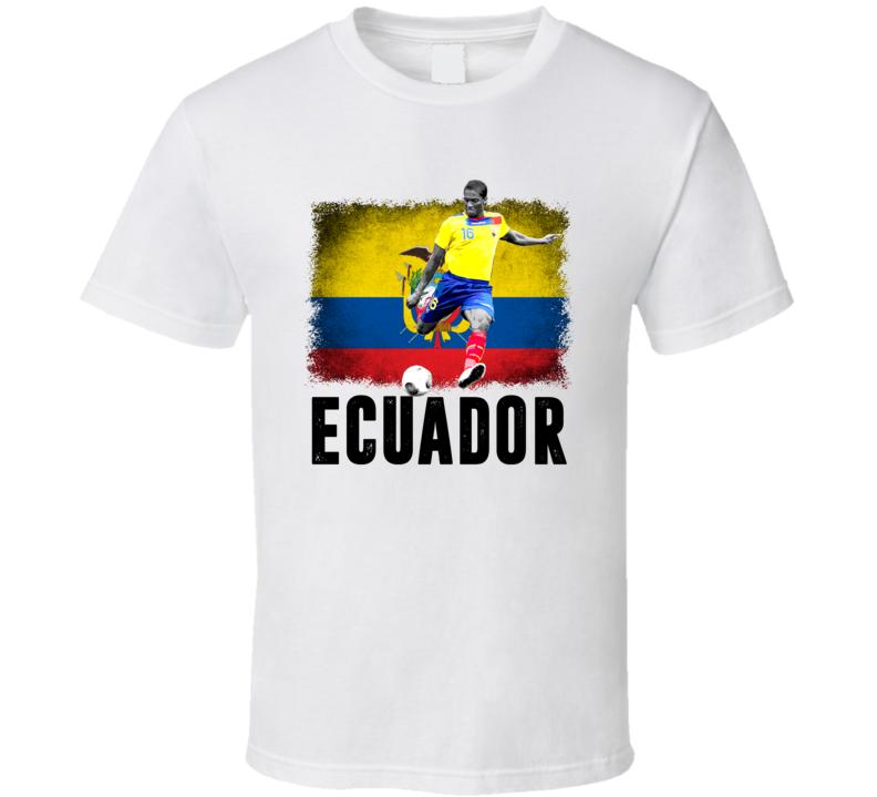 Antonio Valencia Team Ecuador Flag Copa America Cup Soccer Futball T Shirt