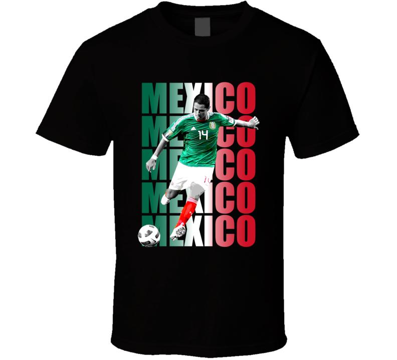 Chicharito Javier Hernandez Team Mexico Colors Copa America Cup Soccer Futball T Shirt