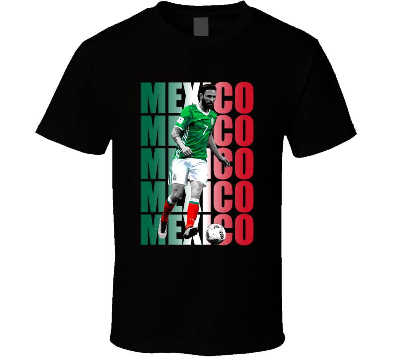 Miguel Layun Team Mexico Colors Copa America Cup Soccer Futball T Shirt