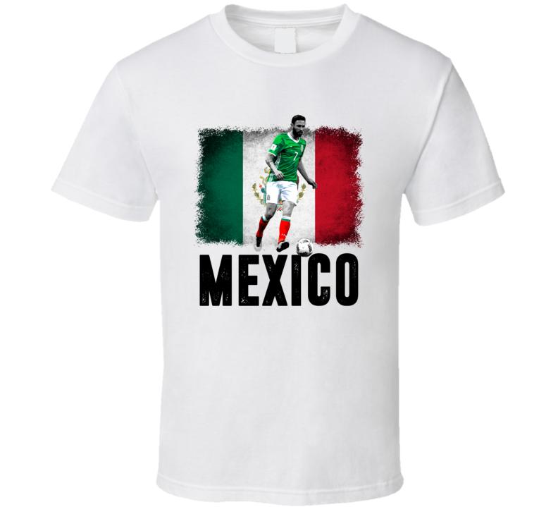 Miguel Layun Team Mexico Flag Copa America Cup Soccer Futball T Shirt