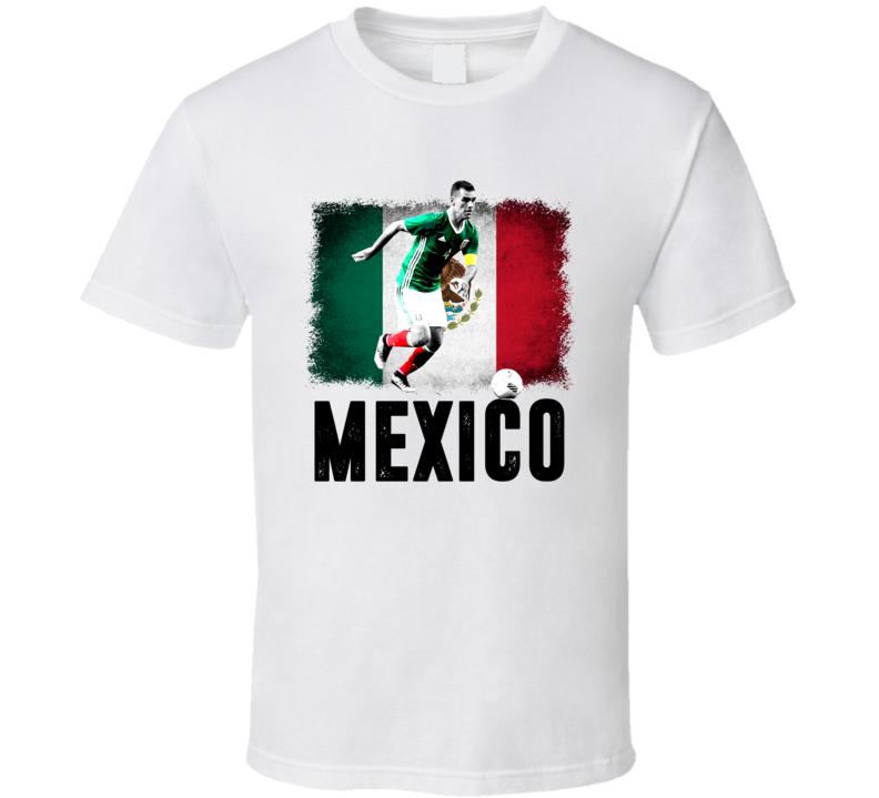 Rafael Rafa Marquez Team Mexico Flag Copa America Cup Soccer Futball T Shirt