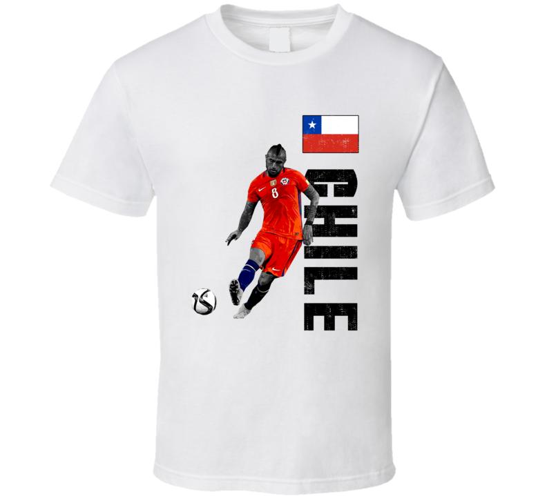 Arturo Vidal Team Chile Support Patriotic Copa America Cup Soccer Futball T Shirt