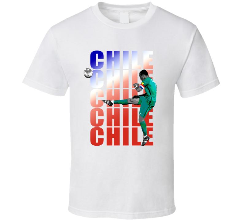 Claudio Bravo Team Chile Colors Copa America Cup Soccer Futball T Shirt