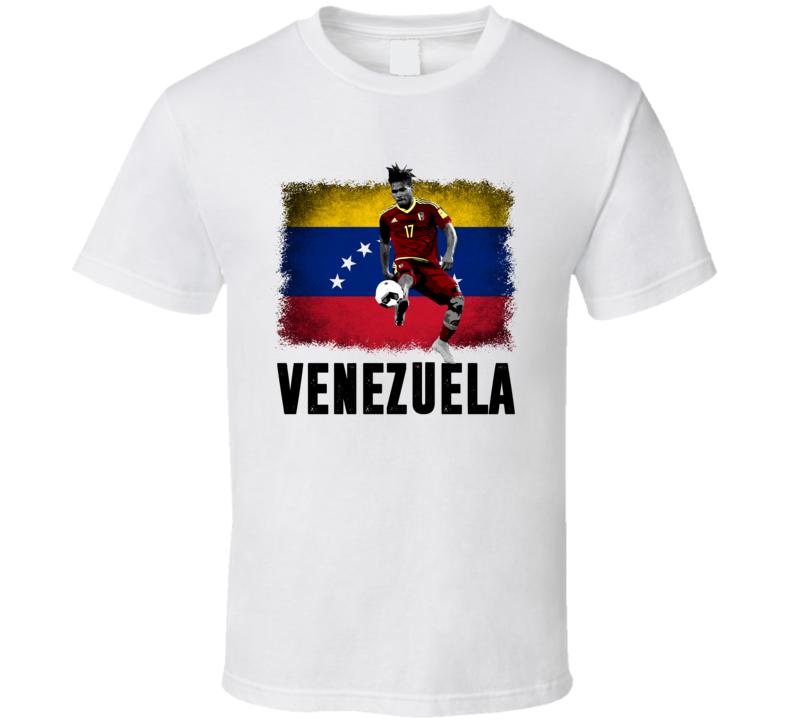Josef Martinez Team Venezuela Flag Copa America Cup Soccer Futball T Shirt