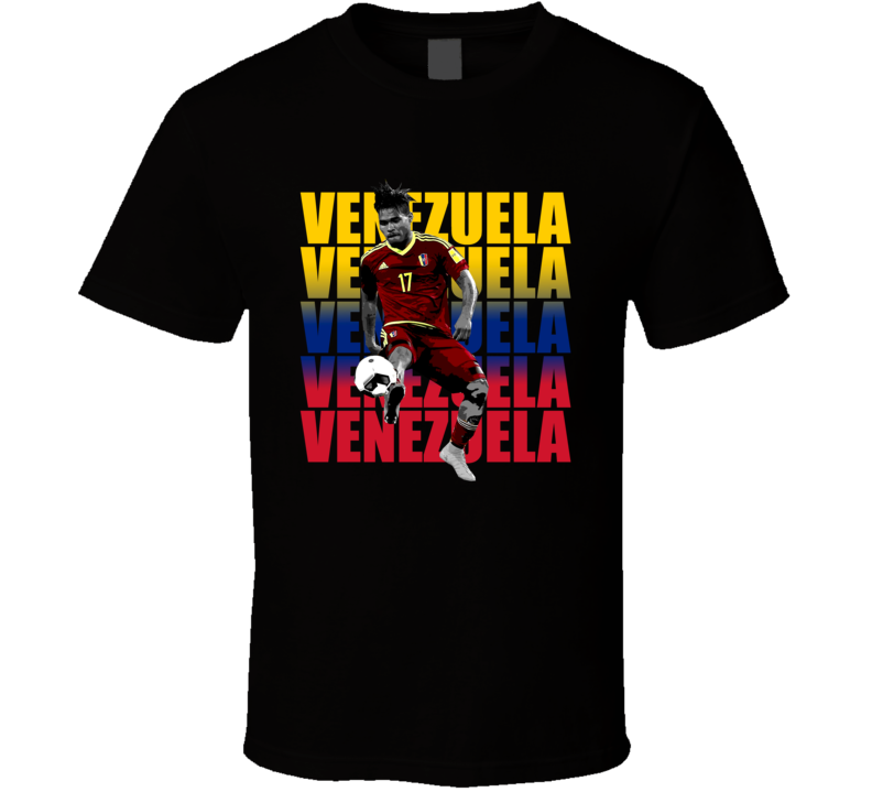 Josef Martinez Team Venezuela Colors Copa America Cup Soccer Futball T Shirt