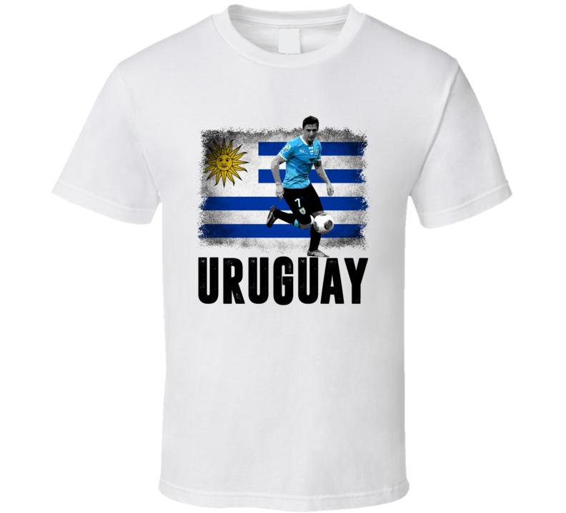 Cristian Rodriguez Team Uruguay Flag Copa America Cup Soccer Futball T Shirt