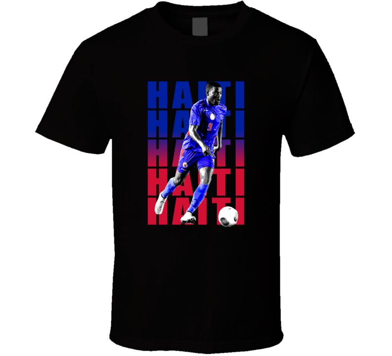 Kervens Beifort Team Haiti Colors Copa America Cup Soccer Futball T Shirt