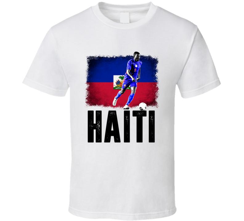 Kervens Beifort Team Haiti Flag Copa America Cup Soccer Futball T Shirt