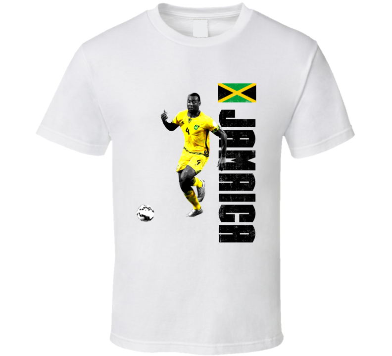 Wes Morgan Team Jamaica Support Patriotic Copa America Cup Soccer Futball T Shirt
