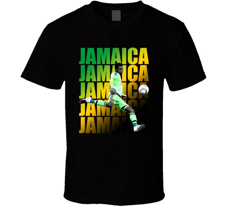 Andre Blake Team Jamaica Colors Copa America Cup Soccer Futball T Shirt