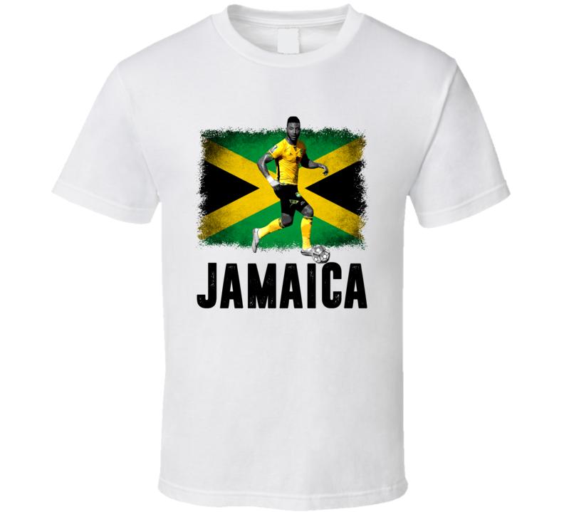 Giles Barnes Team Jamaica Flag Copa America Cup Soccer Futball T Shirt