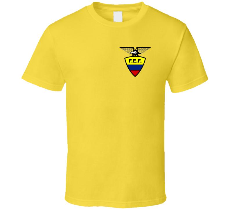 Ecuador Soccer Futball Team Copa America Cup Jersey Crest Logo Supporter Fan T Shirt