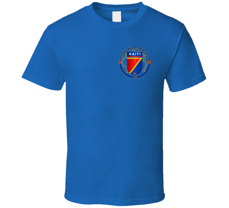 Haiti Soccer Futball Team Copa America Cup Jersey Crest Logo Supporter Fan T Shirt