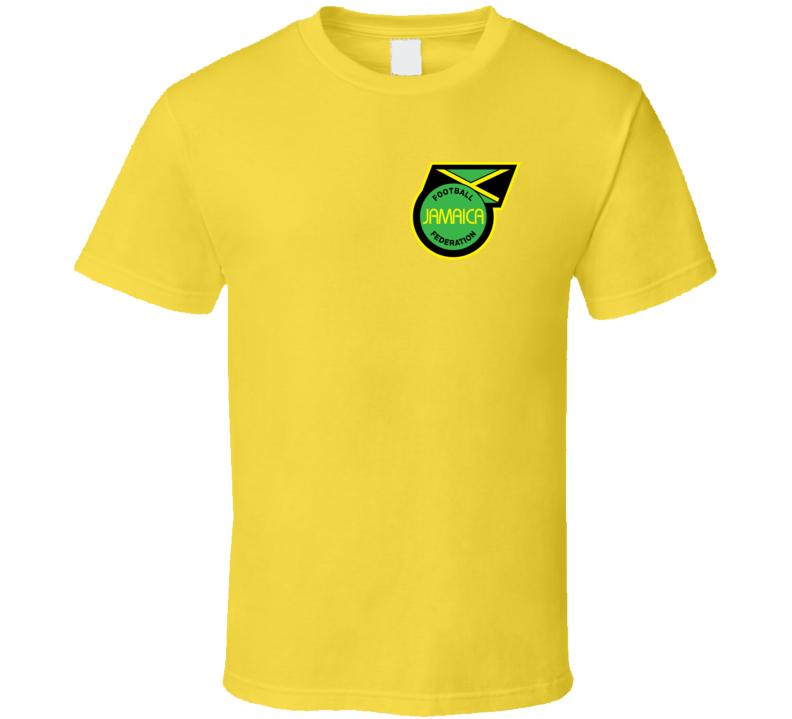 Jamaica Soccer Futball Team Copa America Cup Jersey Crest Logo Supporter Fan T Shirt