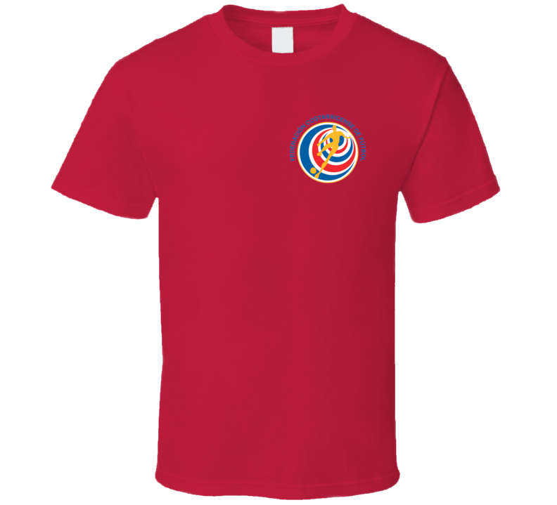 Costa Rica Soccer Futball Team Copa America Cup Jersey Crest Logo Supporter Fan T Shirt