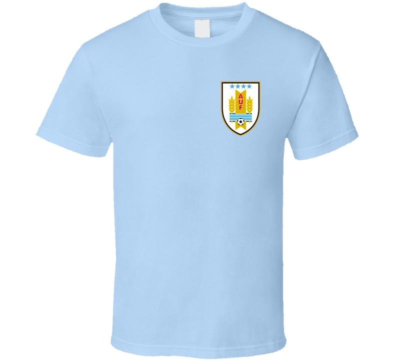 Uruguay Soccer Futball Team Copa America Cup Jersey Crest Logo Supporter Fan T Shirt