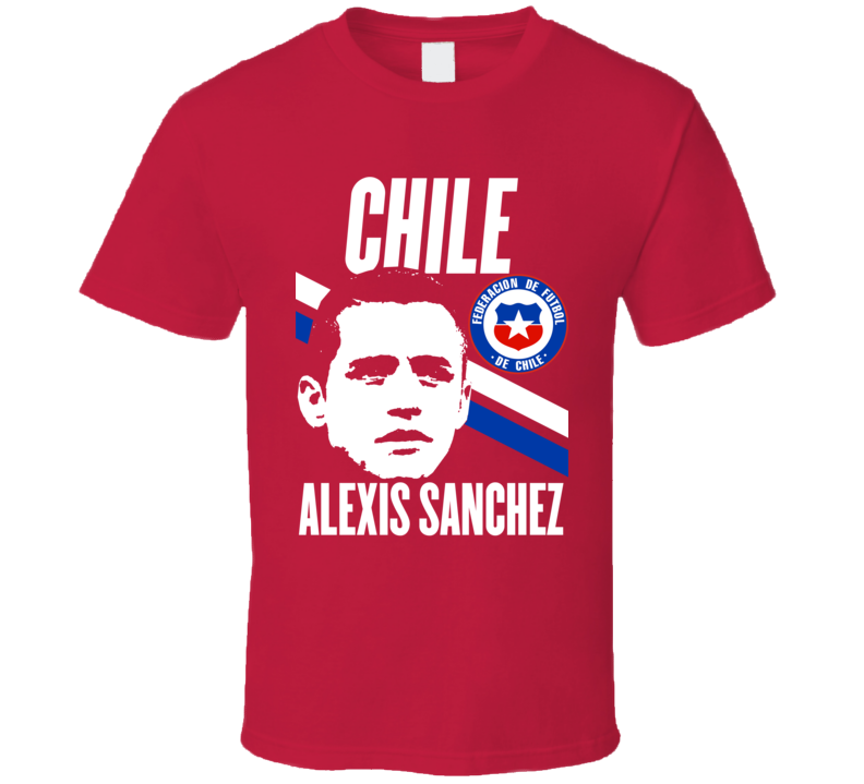 Alexis Sanchez Player Fan Team Chile Copa America Cup Soccer Futball T Shirt