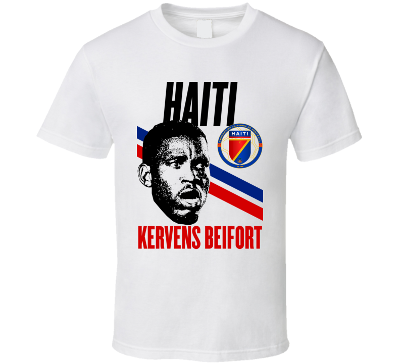 Kervens Beifort Player Fan Team Haiti Copa America Cup Soccer Futball T Shirt