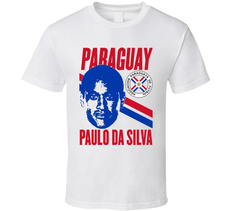 Paulo Da Silva Player Fan Team Paraguay Copa America Cup Soccer Futball T Shirt