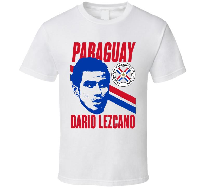 Dario Lezcano Player Fan Team Paraguay Copa America Cup Soccer Futball T Shirt