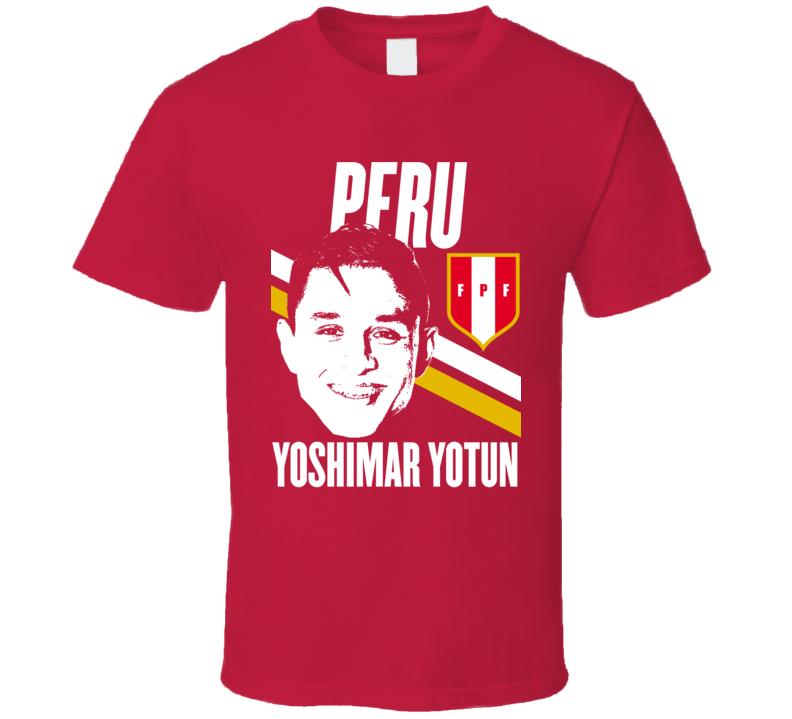 Yoshimar Yotun Player Fan Team Peru Copa America Cup Soccer Futball T Shirt