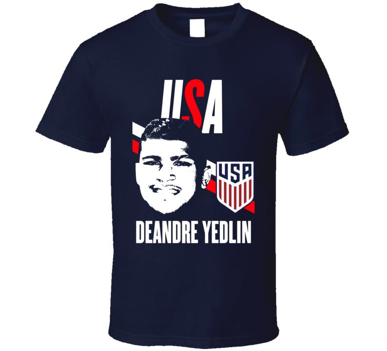 DeAndre Yedlin Is My Player Fan Team USA Copa America Cup Soccer Futball T Shirt