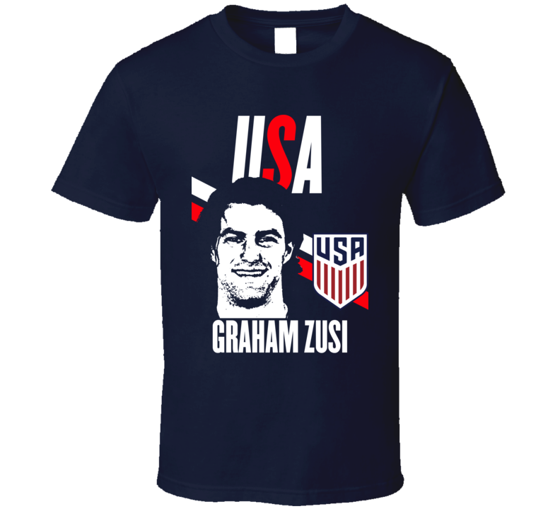 Graham Zusi Is My Player Fan Team USA Copa America Cup Soccer Futball T Shirt