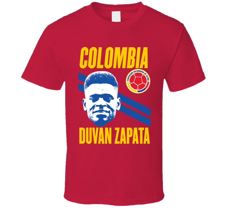 Duvan Zapata Team Colombia Crest Copa America Cup Soccer Football Futbol T Shirt