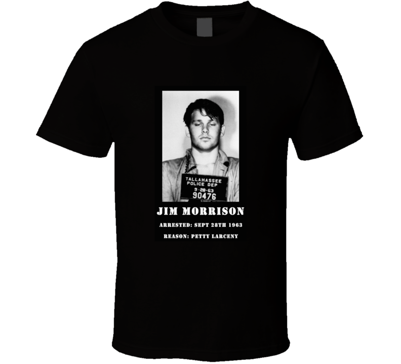 Jim Morrison Mug Shot T Shirt